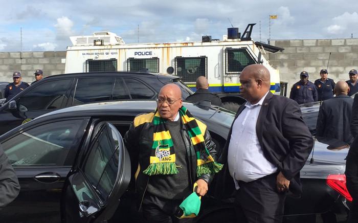President Jacob Zuma campaigned in Cape Town today. Picture: Xolani Koyana/EWN.