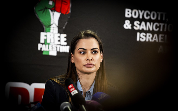 FILE: TV personality Sashi Naidoo speaks at a press briefing on June 20. Picture: Kayleen Morgan/EWN