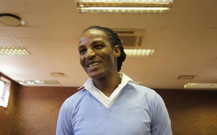 Convicted rapist Sipho' Brickz' Ndlovu seen in the the Roodepoort Magistrates Court ahead of sentencing proceedings, on 17 October 2017. Picture: Christa Eybers / EWN.