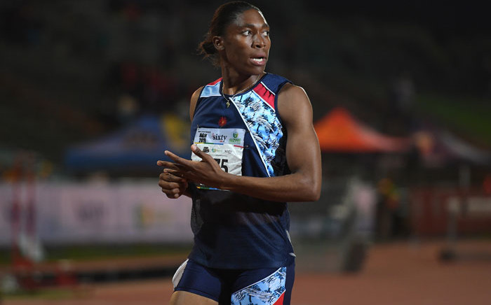 FILE: South African Olympic 800m champion Caster Semenya competes at the ASA Senior Championships at Germiston Athletics stadium, in Germiston on the outskirts of Johannesburg on 26 April 2019. Picture: AFP