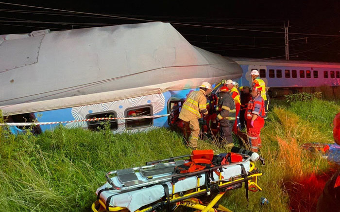 One person was killed on Wednesday night, 12 February 2020 after two trains collided at Horizon View Station. Picture: @Netcare911_sa/Twitter