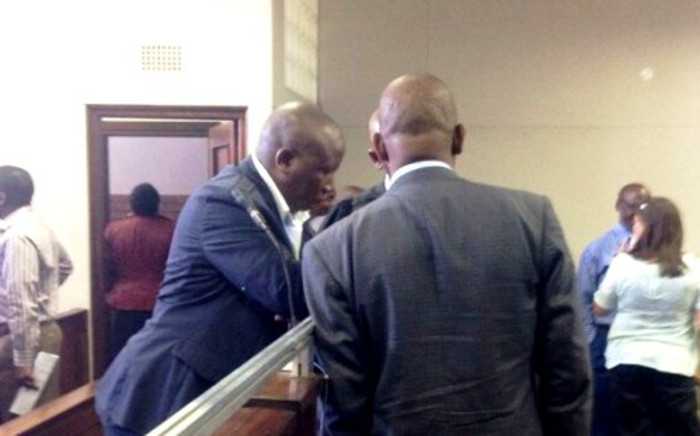 EFF leader Julius Malema in the Vanderbijlpark Magistrates Court on 28 February 2014, shortly before being cleared of reckless and negligent driving. Picture: Mia Lindeque/EWN.