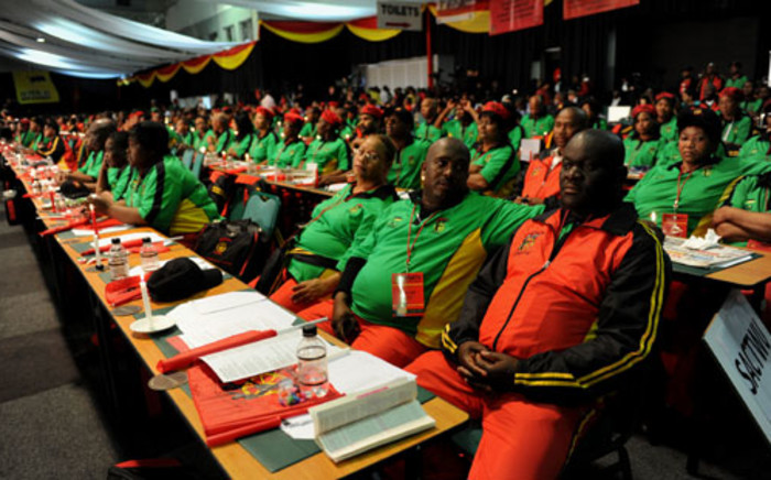 Cosatu delegates attend the trade union federation's 11th national congress at Gallagher Estate in Midrand on Monday, 17 September 2012. Picture: Werner Beukes/SAPA.