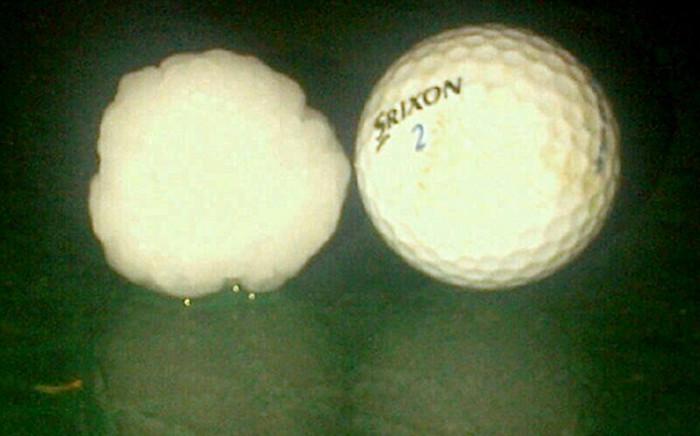 Hailstones the size of golf balls pelted areas in Gauteng's East Rand on 11 November 2013. Picture: @MedixGauteng via Twitter