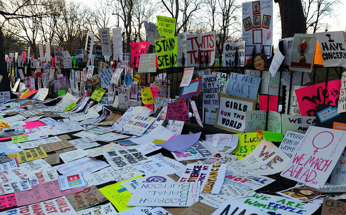 FILE: Posters from a women's march. Picture: Pixabay.com
