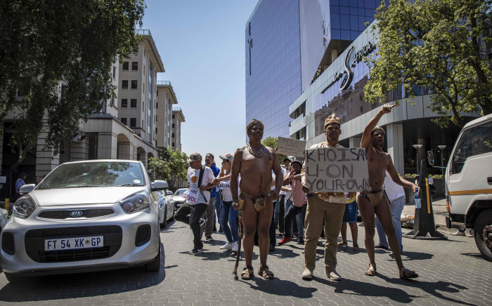 Representatives and coordinators of Gauteng Shutdown marched outside the JSE, delivering a memorandum of demands to its officials. Picture: Thomas Holder/EWN