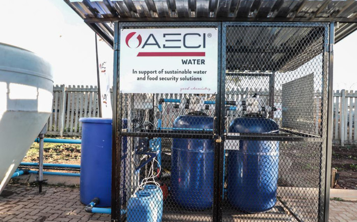 A donation from the AECI Group has made it possible for Goza Primary School in Freedom Park to have running water after six years of struggling to get it from the Gauteng Department of Education. Picture: Abigail Javier/Eyewitness News