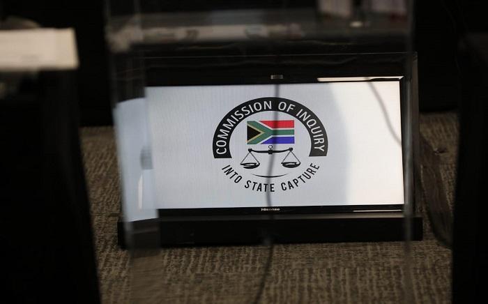 State capture logo. Picture: Kayleen Morgan/Eyewitness News.