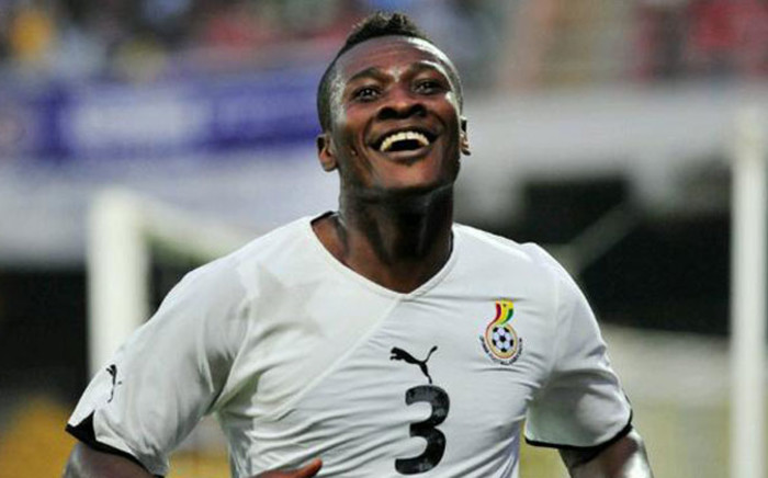 Ghana's captain Asamoah Gyan struck deep into stoppage time to earn a 1-0 victory over Algeria on Friday. Picture: Twitter @AFCON_2015.