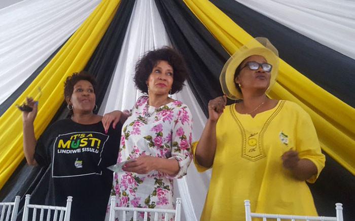 ANC presidential candidate Lindiwe Sisulu (C) at a rally in Vanderbijlpark on Saturday. Picture: @LindiweSisuluSA.