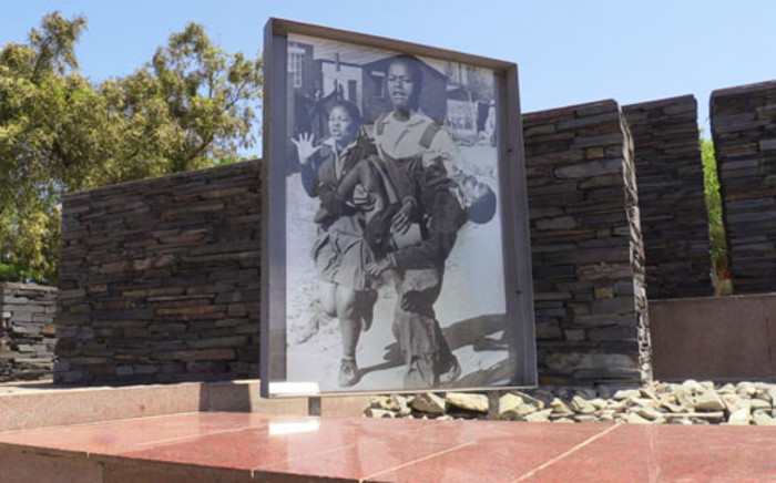 The iconic photograph taken of Hector Pieterson, who was killed during the Soweto uprising in 1976, displayed at the Hector Pieterson museum in Soweto. Picture: Reinart Toerien/EWN.