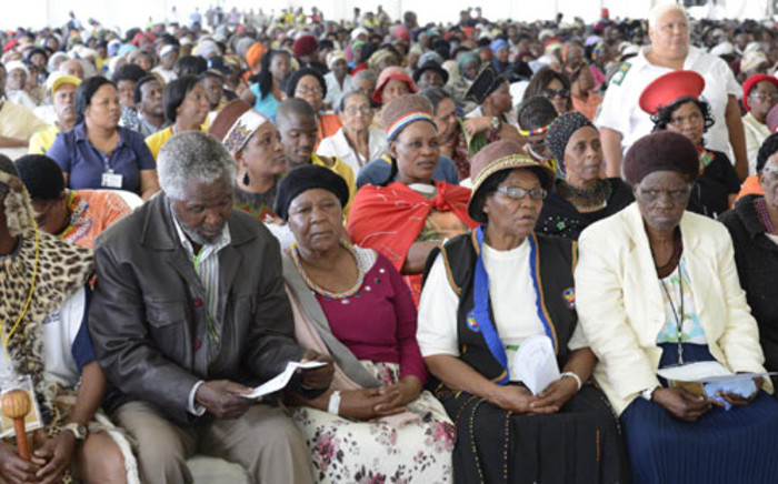 As part of the International Day for senior citizens, community members from the Hammersdale area held a march against elderly abuse at the Mpumalamga Stadium in Hammersdale which started at KwaMagaba Hall. The stadium was packed with the elderly coming from all parts of KZN to celebrate the day. Picture: GCIS.