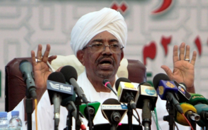 FILE: Sudanese President Omar al-Bashir speaks during a press conference in Khartoum late on September 22, 2013. Picture:AFP.