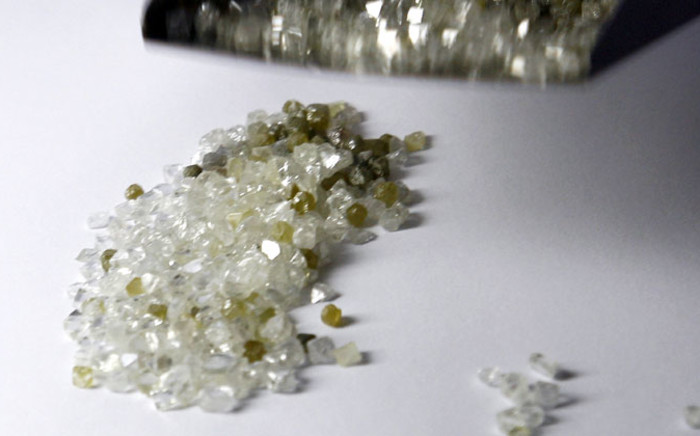 FILE: Raw diamonds. Picture: AFP