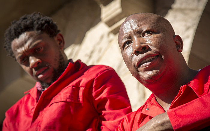 EFF leader Julius Malema (R) and party spokesman Mbuyiseni Ndlozi (L). Picture: EWN