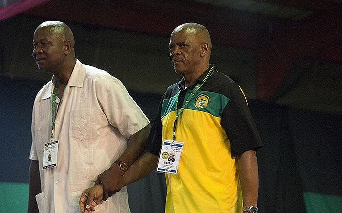 Ace Magashule (right) after the announcement of the ANC's new top 6 on 18 December 2017. Picture: Sethembiso Zulu/EWN