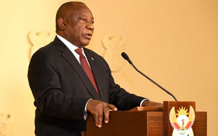 President Cyril Ramaphosa addresses the nation on the coronavirus measures on 13 May 2020. Picture: GCIS