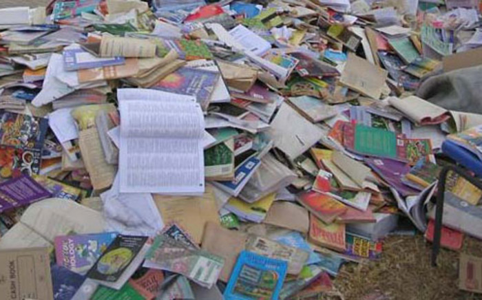 The Democratic Alliance discovers destroyed textbooks in the Limpopo province on 23 June, 2012. Picture: HelenZille/Twitter