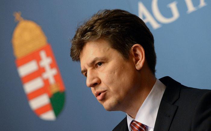 The Hungarian government's commissioner Attila Aszodi.  Picture: AFP