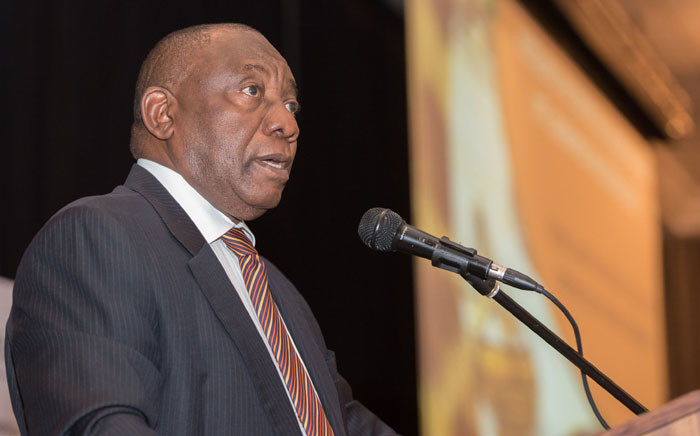 Deputy President Cyril Ramaphosa during the closing session of the Indigenous and Traditional Leaders Indaba at the Birchwood Conference Centre in Ekurhuleni. Picture: GCIS.