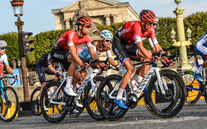 Riders enter Paris on the final day of the Tour de France. Picture: @Arkea_Samsic/Twitter