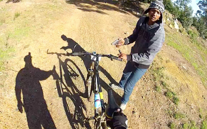 Mountainbike gunpoint robbery in Somerset West. Picture: Youtube