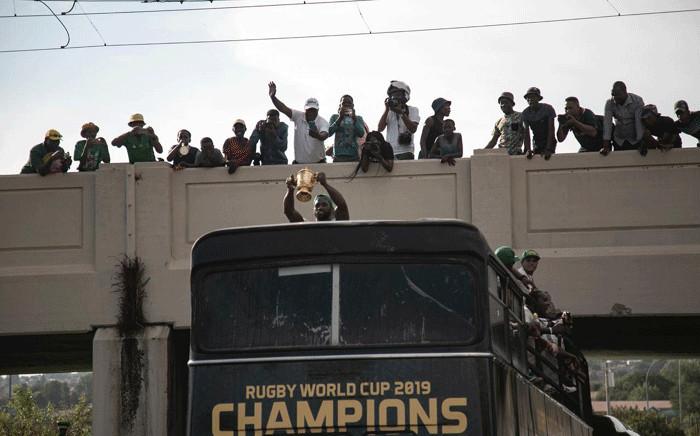 The Springboks took their RWC victory tour to Soweto. Picture: Sethembiso Zulu/EWN.