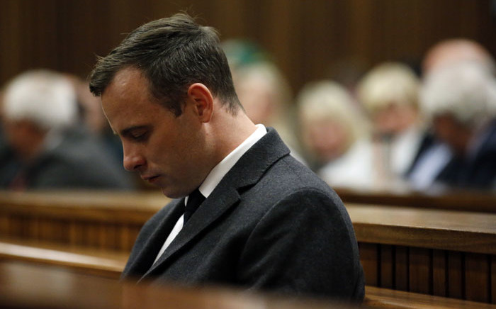 FILE: Oscar Pistorius in his murder trial at the High Court in Pretoria, on July 6, 2016. Picture: AFP