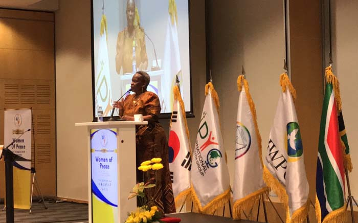 FILE: Her Majesty Dr Semane Molotlegi speaking at the African Leaders Peace summit in Cape Town. Picture: Kaylynn Palm/EWN.
