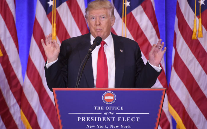 US President-elect Donald Trump. Picture: AFP
