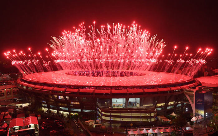 Fireworks explode at the end of the closing ceremony of the Rio 2016 Olympic Games at the Maracana stadium in Rio de Janeiro on August 21, 2016. Picture: AFP