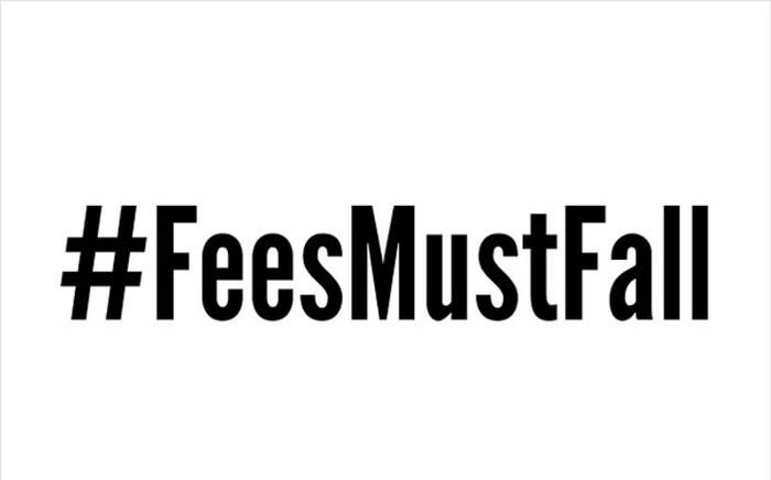 "The ""Fees Must Fall"" hashtag on Twitter. Picture: @702"