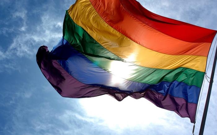 rainbow-flag-and-blue-skiesjpg