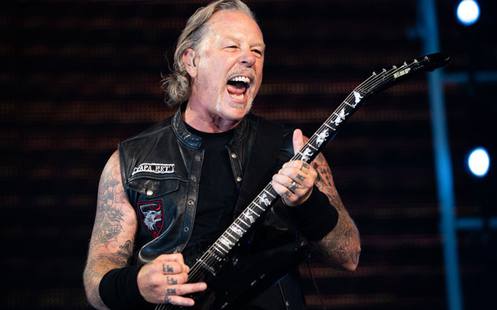 FILE: James Hetfield of Metallica performs on stage during a concert at the Ernst-Happel-Stadion in Vienna, Austria on 16 August 2019. Picture: AFP