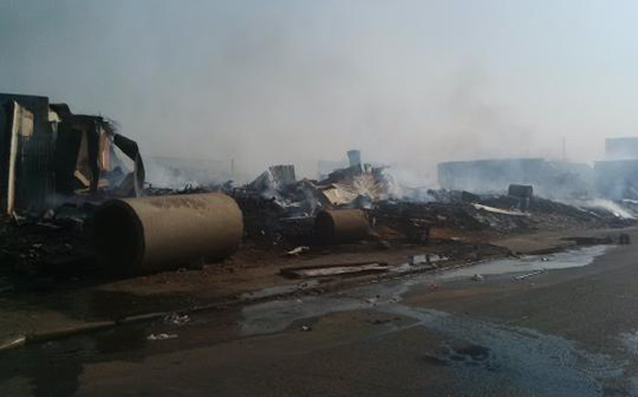 FILE: Its understood the fire broke out in one of the shacks and spread rapidly. Picture: @RobertMulaudzi.