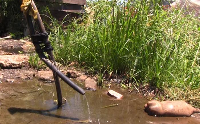 A tap in the Marry-me informal settlement in Soshanguve, north of Pretoria. Picture: Reinart Toerien/EWN.