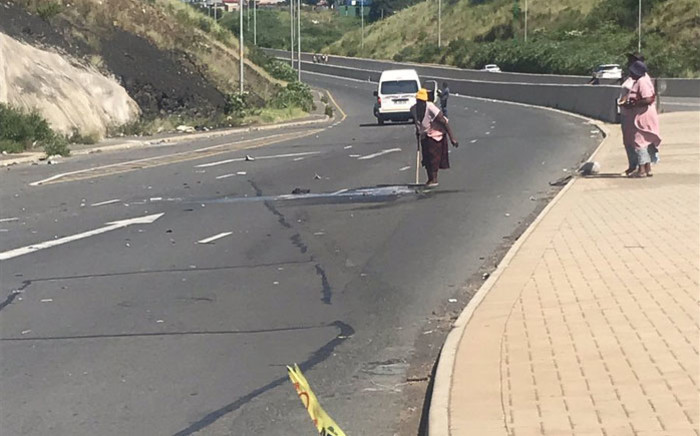 The scene of the accident that claimed the lives of three pupils in Newlands East, Durban on 6 March 2019. Picture: EWN