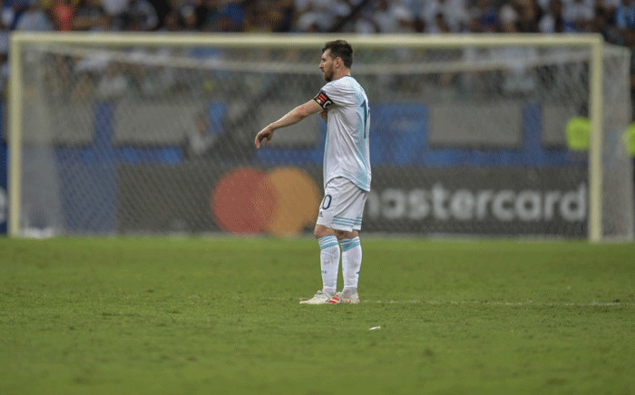 FILE: Argentina's Lionel Messi is pictured during the Copa America football tournament group match against Colombia at the Fonte Nova Arena in Salvador, Brazil, on 15 June, 2019. Picture: AFP