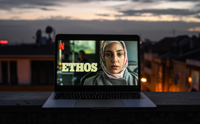 An Istanbul poster of 'Ethos' (bir baskadir), the new Netflix series. Picture: AFP