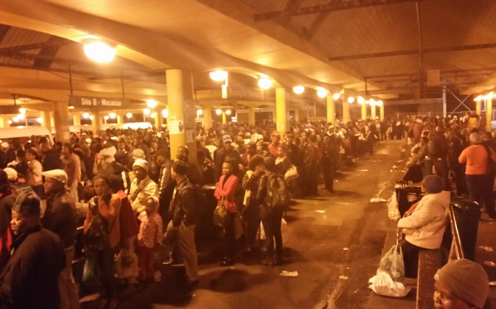 Thousands of Metrorail commuters on Cape Town's station used taxis as an alternative mode of transport after metrorail was forced to closed down its busiest line. Picture: Gadeeja Abbas/EWN.