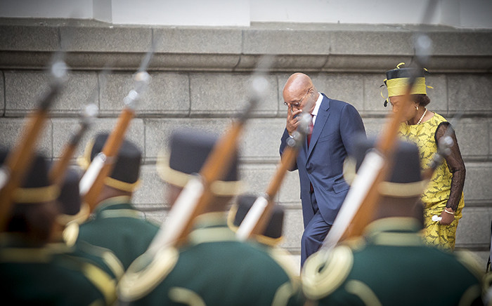 FILE: President Jacob Zuma makes his way up the steps towards Parliament for Sona 2016 while the ceremonial guard stands at attention. With him is Speaker Baleka Mbete. Picture: Thomas Holder/EWN..