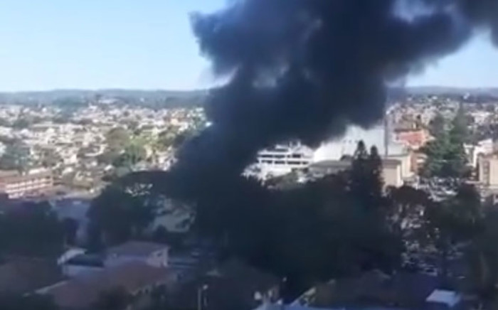 A textile factory caught alight on Brickfield Road in Durban on 10 May 2021. Picture: @_ArriveAlive/Twitter