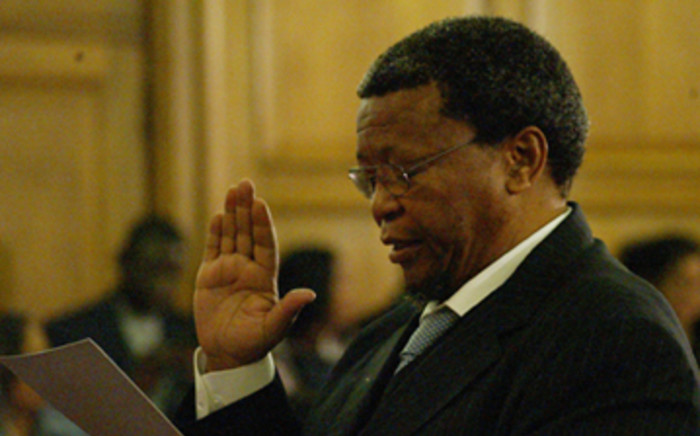 FILE: Khabisi Mosunkutu, Gauteng MEC for Community Safety takes his oath of office. Picture: EWN