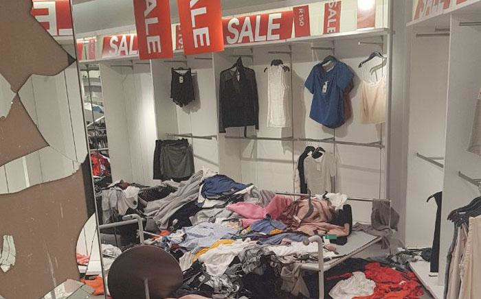 Members of the Economic Freedom Fighters protested and trashed H&M stores in Gauteng on 13 January 2018 after a racist advert sparked outrage. Picture: Supplied