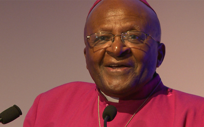 Archbishop Emeritus Desmond Tutu addresses the 35th Annual Crime Stoppers International Conference delegates in Cape Town on 14 October 2014. Picture: EWN