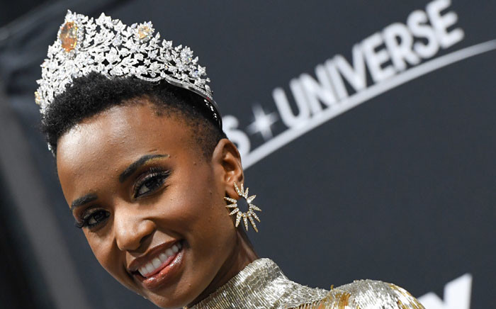 Newly crowned Miss Universe 2019 South Africa's Zozibini Tunzi attends a press conference after the 2019 Miss Universe pageant at the Tyler Perry Studios in Atlanta, Georgia on 8 December 2019. Picture: AFP