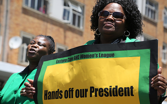 Thousands of ANC Women's League members marched to the Union Buildings in Pretoria on 30 October 2015 in defence of President Jacob Zuma. Picture: Reinart Toerien/EWN.