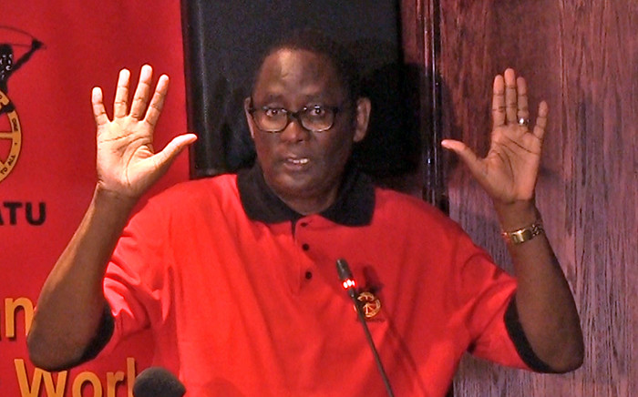Congress of South African Trade Union's Zwelinzima Vavi during a press conference about his future in the trade union federation on 29 March 2015. Picture: Reinart Toerien/EWN.