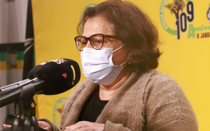 African National Congress (ANC) deputy secretary-general Jessie Duarte on 11 May 2021 briefs the media on the outcomes of the party's special NEC meeting. Picture: @MYANC/Twitter