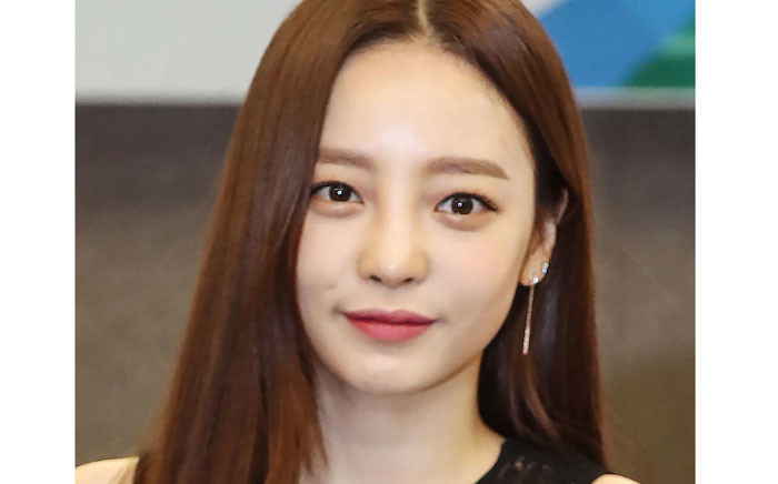 This photo taken by Yonhap News Agency on 24 July 2018 shows K-pop star Goo Hara looking on in Seoul. K-pop star Goo Hara, former member of South Korean girl group 'Kara', was found dead at her home in Seoul. Picture: AFP